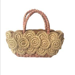 Rattan Straw Woven Reed Wicker Handbag
